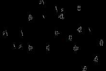 estrutura química de um dos primeiros aminoglicosídeos