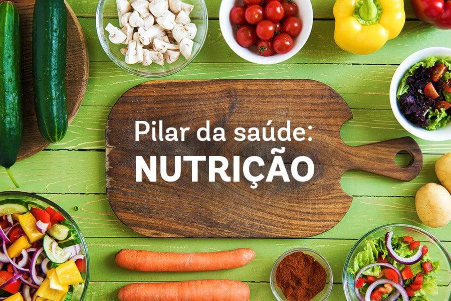pilares da dieta e nutrição saudáveis.