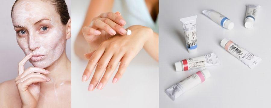 niacinamida (uma forma da vitamina b3) é usada para tratar beleza da pele